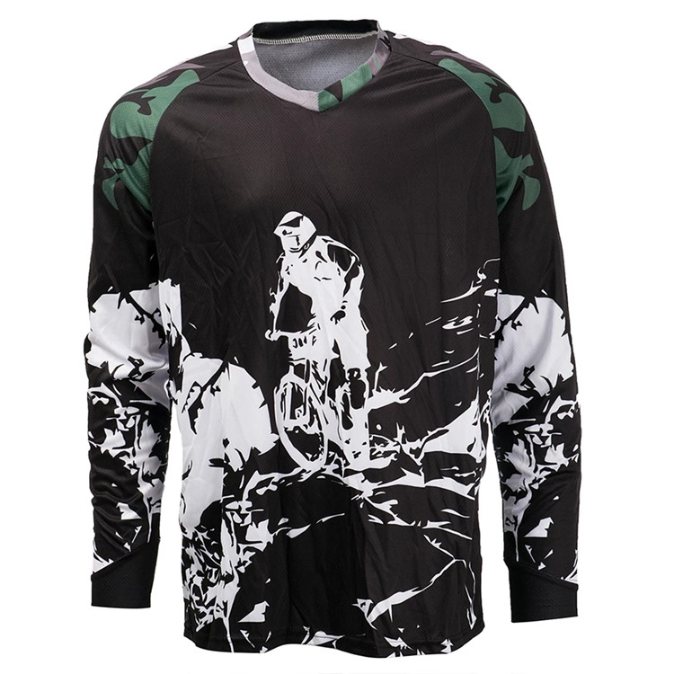 Customized cycling mountain bike jersey long sleeve MTB downhill wear quick dry factory offer