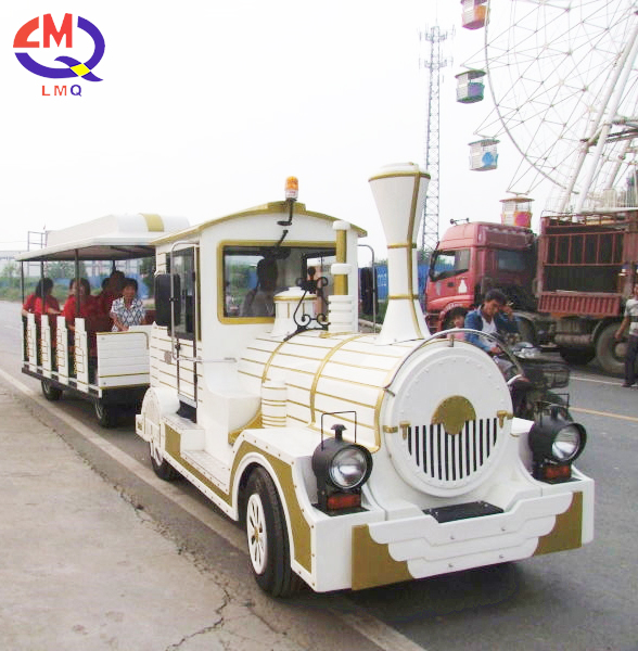 Direct manufacturer outdoor amusement park rides electric road sightseeing mini trackless train for sale