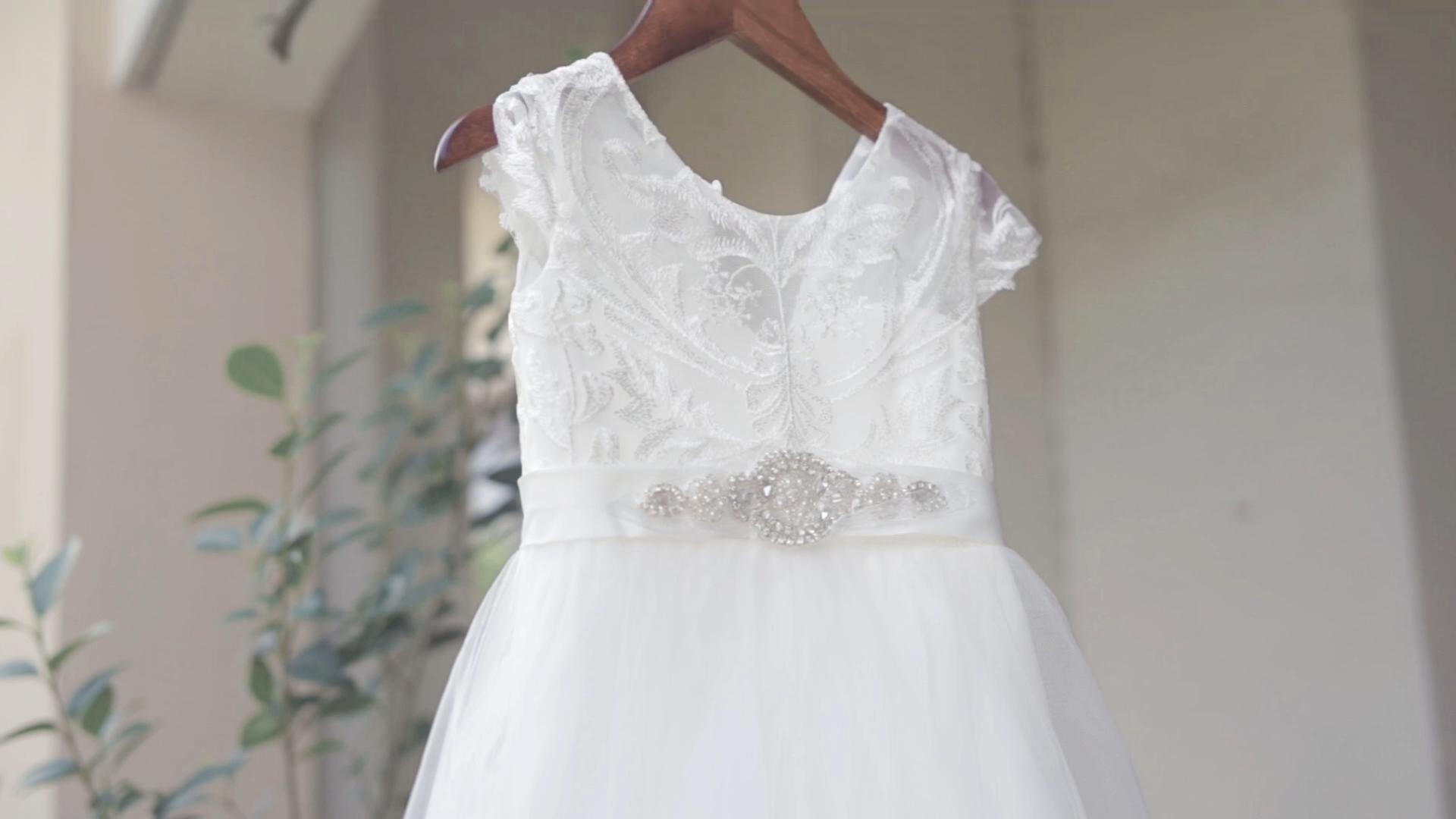 Boutique Wholesale Kids Girls Metallic Lace Cap Sleeve Ball Gown Children Little Girl Princess Wedding Long Party Dress