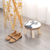Stool New Sale Dining Round Animal Modern Indoor Kid Camp Bathroom Toilet Foot Step Kitchen Fabric Wooden Chairs Ottoman Stools