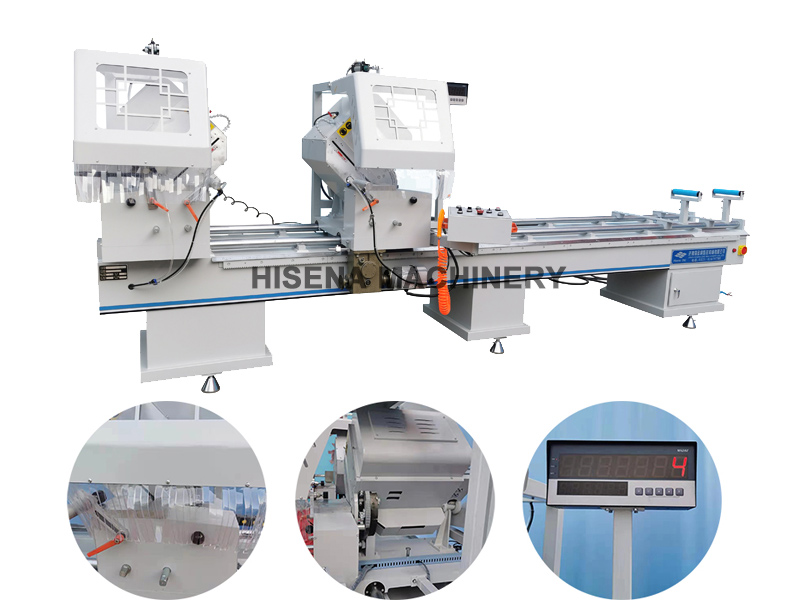 Aluminum window doors ,Double head Mitre Saw cutting machine for aluminum window fabrication