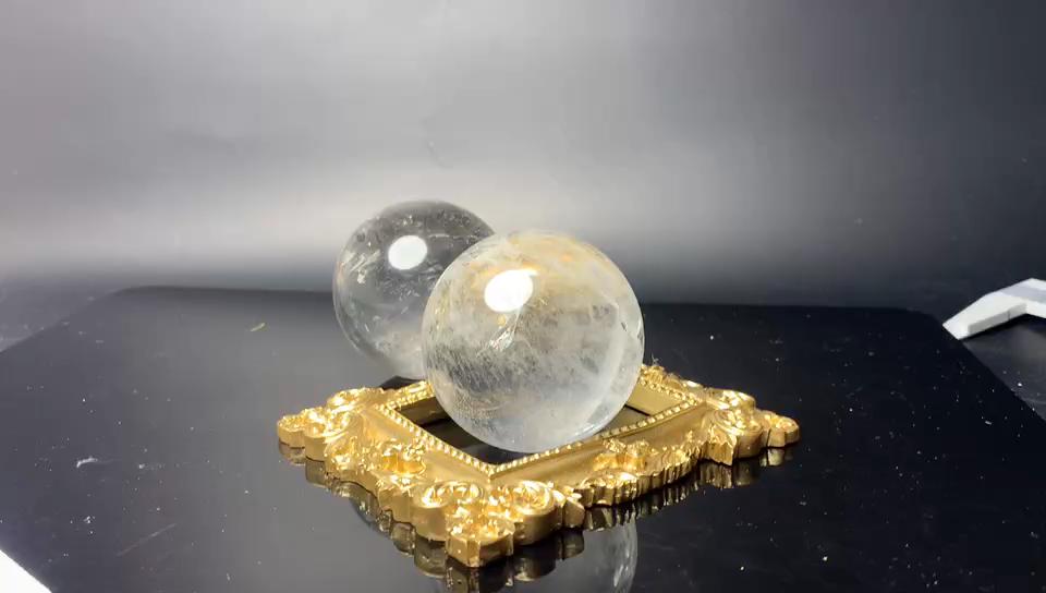2 polegadas Natural polido cristal de quartzo claro cristais bolas mágicas esferas decoração de casa feng shui cura pedras