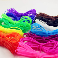 Deepeel CD011 2mm DIY Bracelet Jewelry Accessories Manual Weaving Rubber Rope Elastic Hollow Silicone Cords