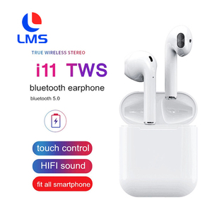 2019 New Arrival Bluetooth 5.0 Earphones True Wireless i11 TWS Wireless Headphone 5.0 Earphone with popup window