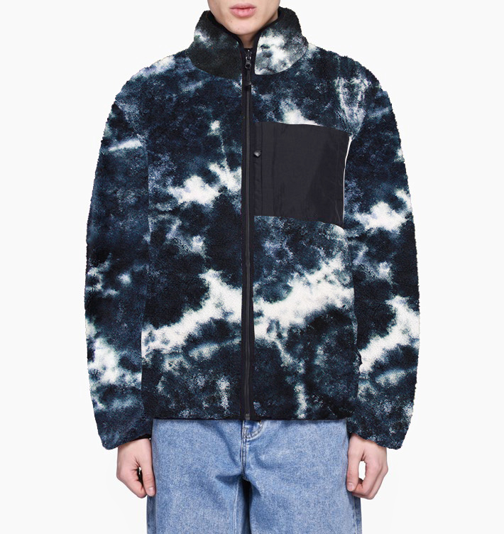 2020 new design polar fleece <strong>jacket</strong> starry sky Tie Dye custom 100% polyester <strong>winter</strong> <strong>mens</strong> sherpa <strong>jacket</strong>