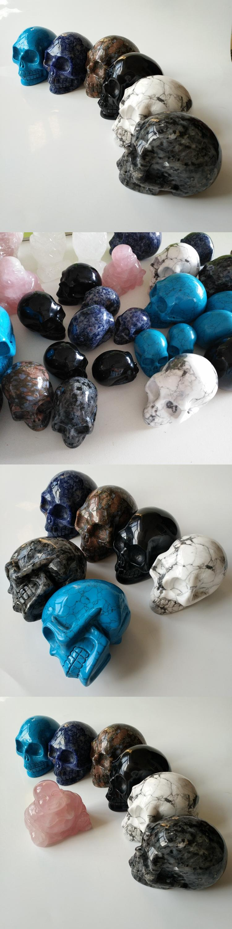 Happy easter decoration fluorite crystal skulls gemstone hollow carved