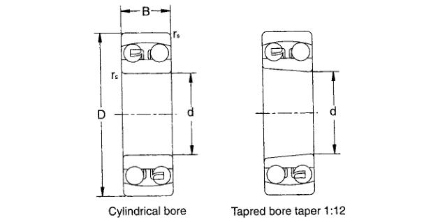 2213 self aligning ball bearing drawing