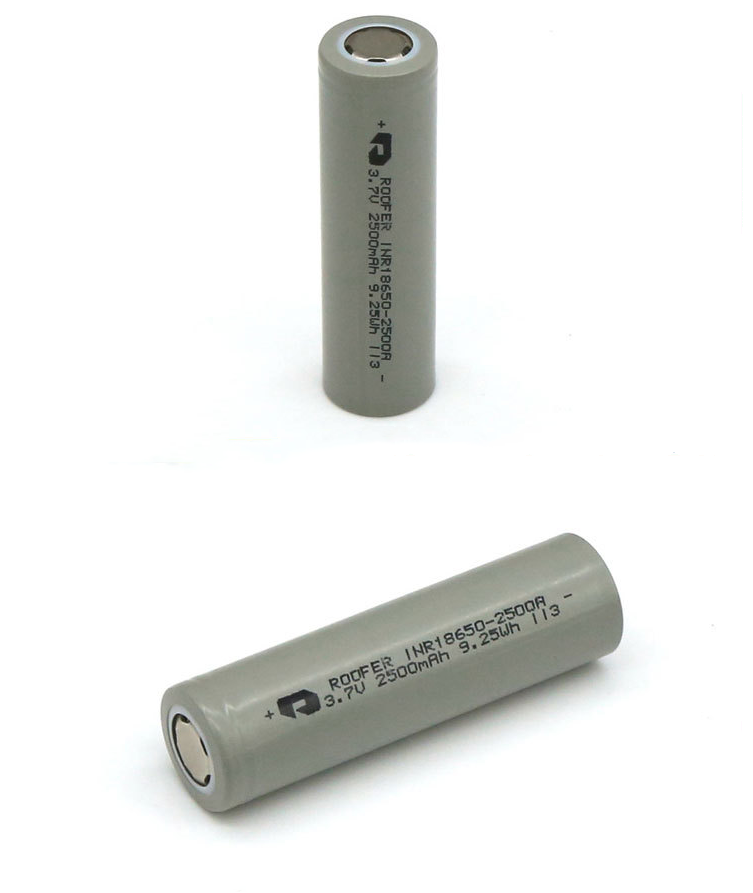 KC Certified Roofer 5C Rate 18650 Li-ion <strong>Battery</strong> 3.7V 2500mAh Roofer INR18650 Rechargeable Lithium ion <strong>Battery</strong>