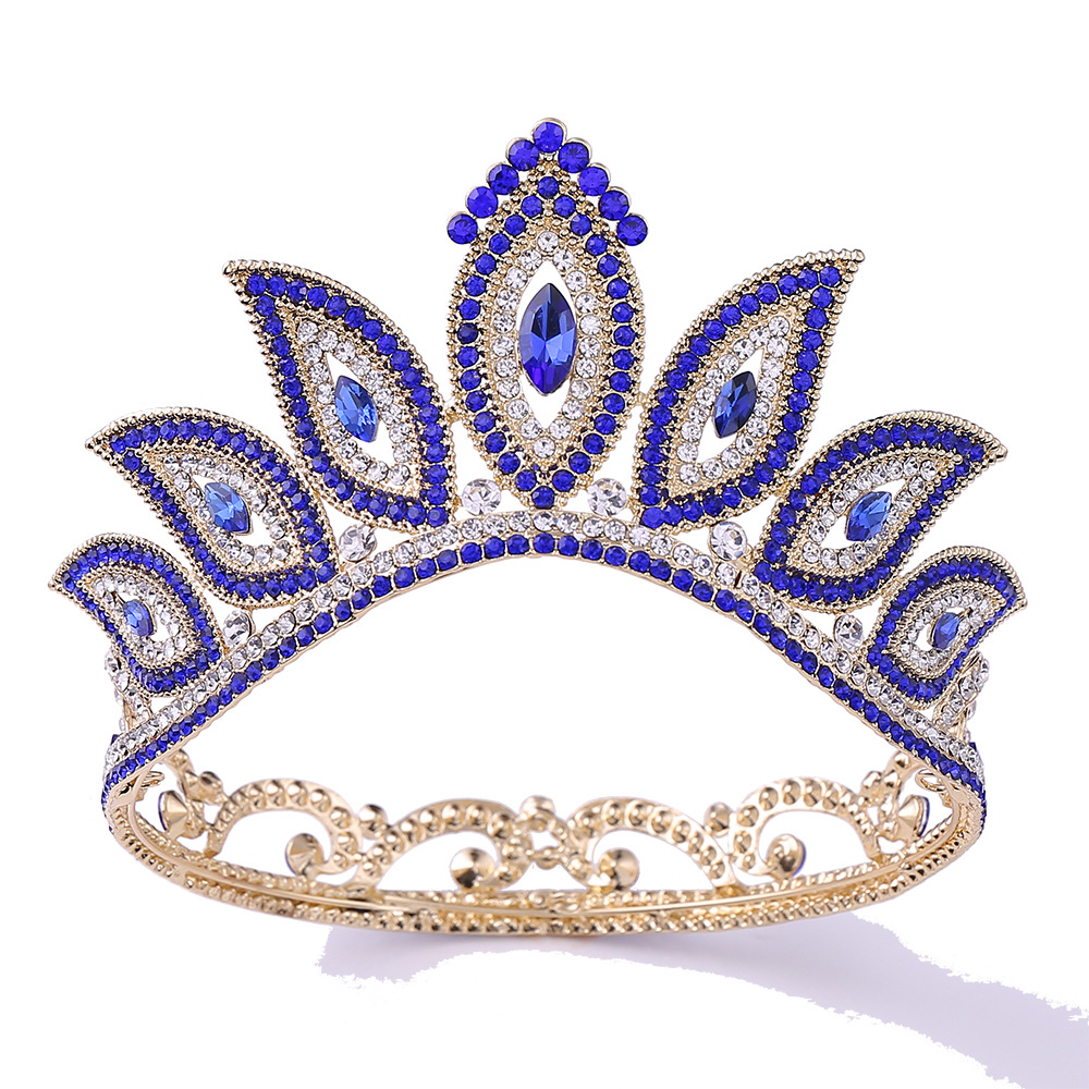 Wholesale wedding hair accessories gold <strong>crown</strong> tiaras tiaras and <strong>crowns</strong> gold with rhinestones