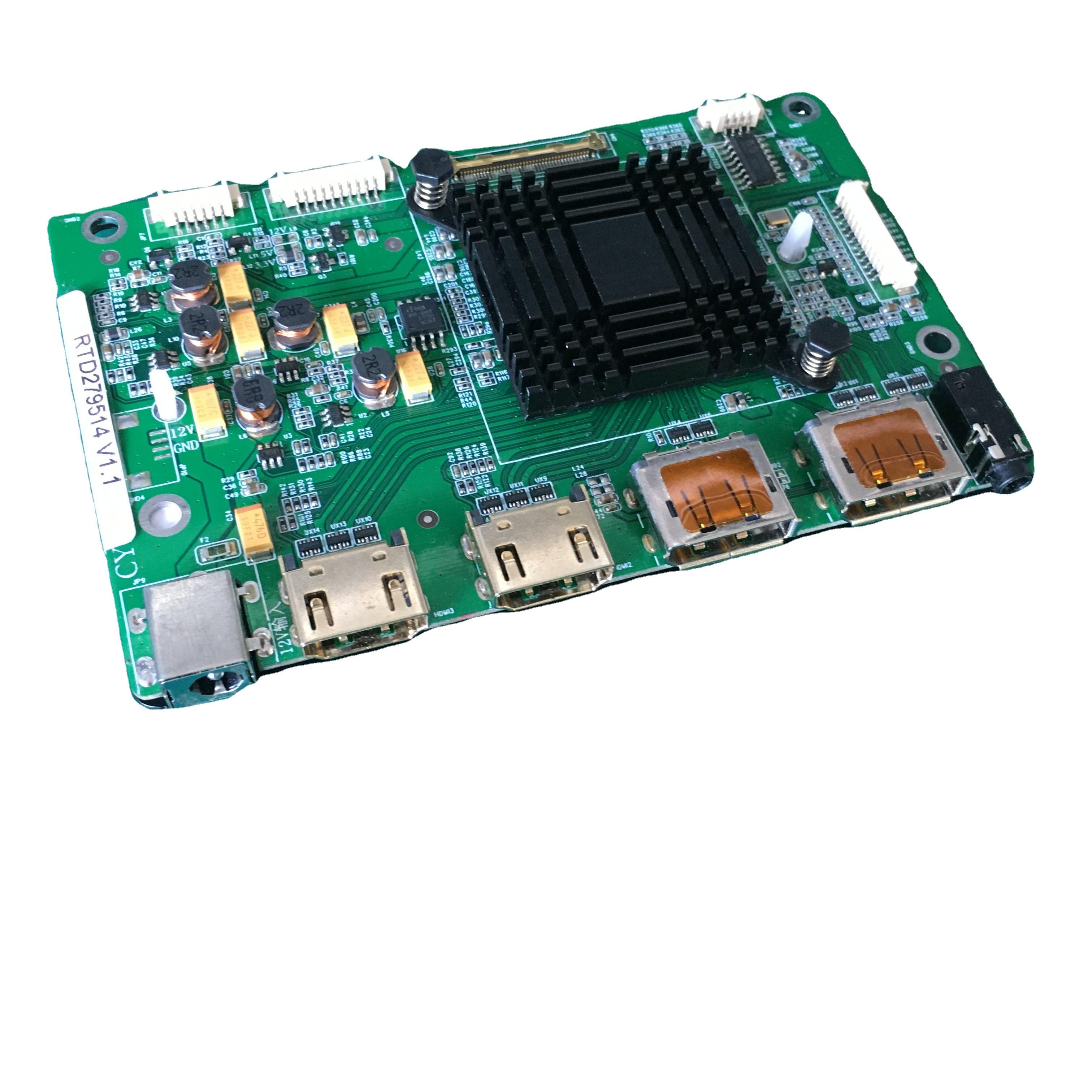 9514 4K HDR10 LCD Driver Board Support NV156QUM-N32 LQ156D1JX01B 4 Lane eDP 40pin 3.3V 4k LCD Panel