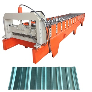 Indonesia G550 750 spandek roof panel roll forming machine