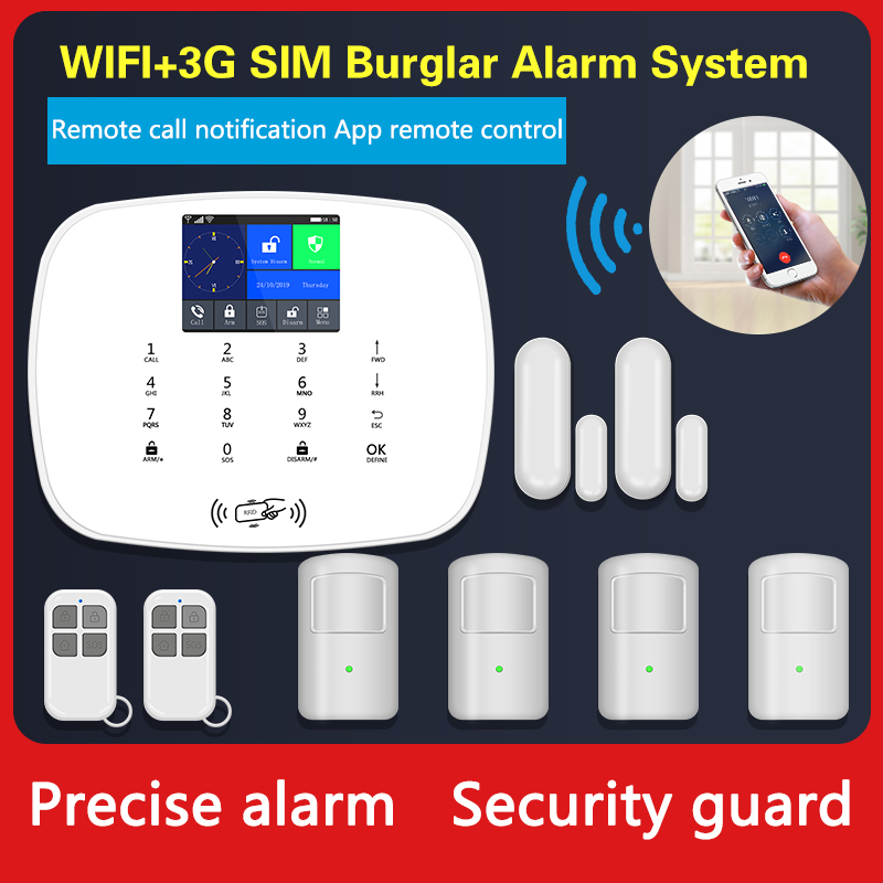 Hot selling gsm wifi alarm system with wireless motion sensor gsm security wireless smart security alarm system