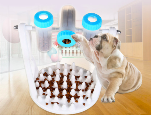 Pet Dogs Supplies Products Multi-function Dog Food Bowls Container and Slow Feeder Bottles for Puppy Eating Slow to Prevent Obes