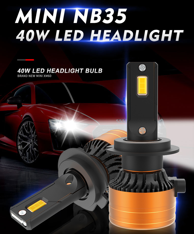 2019 BRAND NEW NB35  mini car 3570 CSP 12v 35w H1 h3  h4  H7 H11 9005 9006 faro bulb c6 led auto headlight