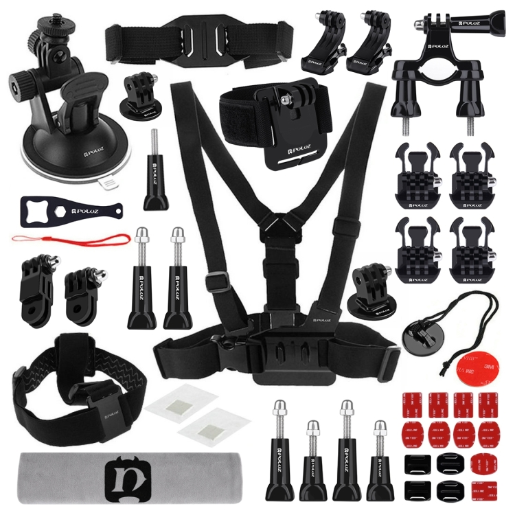 Wholesale High Quality PULUZ 45 in 1 Accessories Ultimate Combo Kits for GoPro NEW HERO