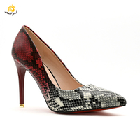 Heel Job Shoe Factory Wholesale Lady Black Snakeskin Pumps Heel Party High Heels Customize Designer Shoes Women Famous Brands