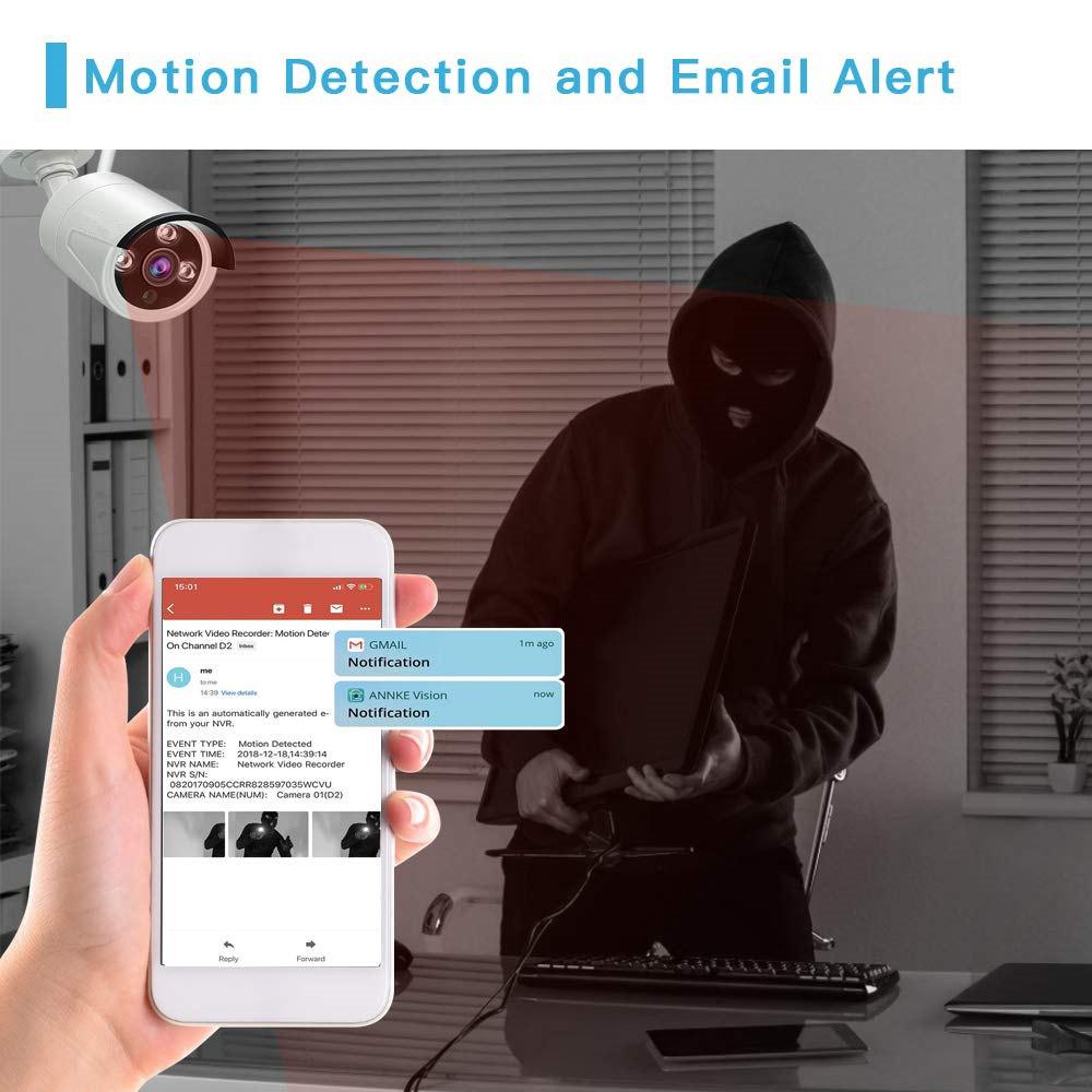 TUYA smart home wifi 1080P IP security camera NVR system with p2p TUYA APP and TUYA alarm