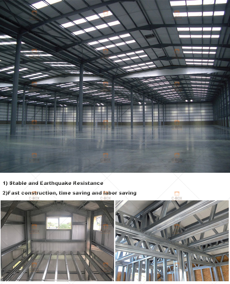 prefab warehouse light steel structure