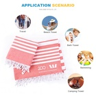 Beach Promotional Turkish Towels Beach With Bag 100% Cotton Organic Customised