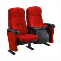 New Design Made In China Modern Luxury Red Fabric Movie Folding Cinema Chairs Vip Price Theater Seats With Cupholder For Sale