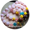 Wholesale natural pink crystal beeswax rose bead bracelet fashion jewelry for gifts
