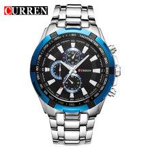 Новинка 2020! Роскошные Брендовые мужские кварцевые часы Curren, модные повседневные мужские спортивные часы, полностью стальные военные часы, ...(Китай)