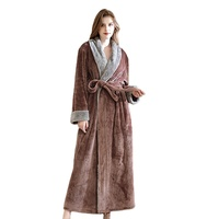Extra long waffle luxury warm home polar microfiber coral flannel fur plush full size adult women girls pajamas