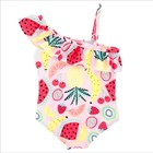 One Piece Women Bikinis Baby Girls Floral Swimsuit Kids Swimwear Daughter Beach Children Bathing Swimming Suits