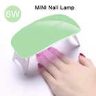 Nail beauty salon white pink mini folding cordless USB charging 6W quick dry nail dryer portable uv lamp
