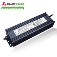SMARTS POWER Waterproof constant voltage 120v 230v ac 12v 24v dc 200w triac dimmable led driver