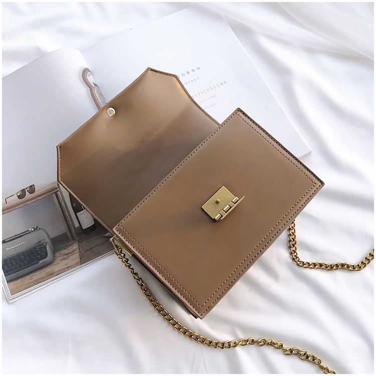 Retro small square bag shoulder pack ladies cross body bag leather