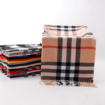 wholesale high quality custom winter cheap long infiniti cashmre plaid music foulard scarf