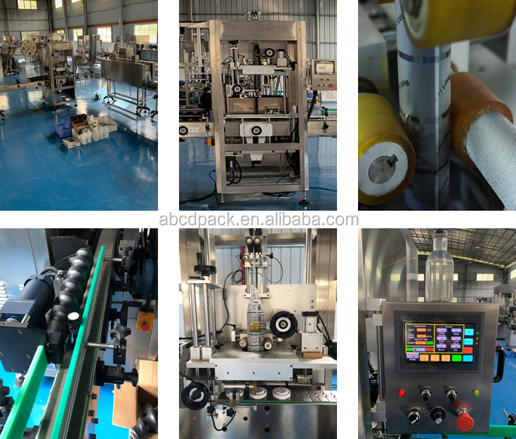 Automatic Sleeve Shrinking Labeling Machine Sealing Glue Shrink Wrapping Machine