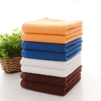 Wholesale cheap lightweight orange super absorbent soft 100% cotton cleaning cloth towel stock lot