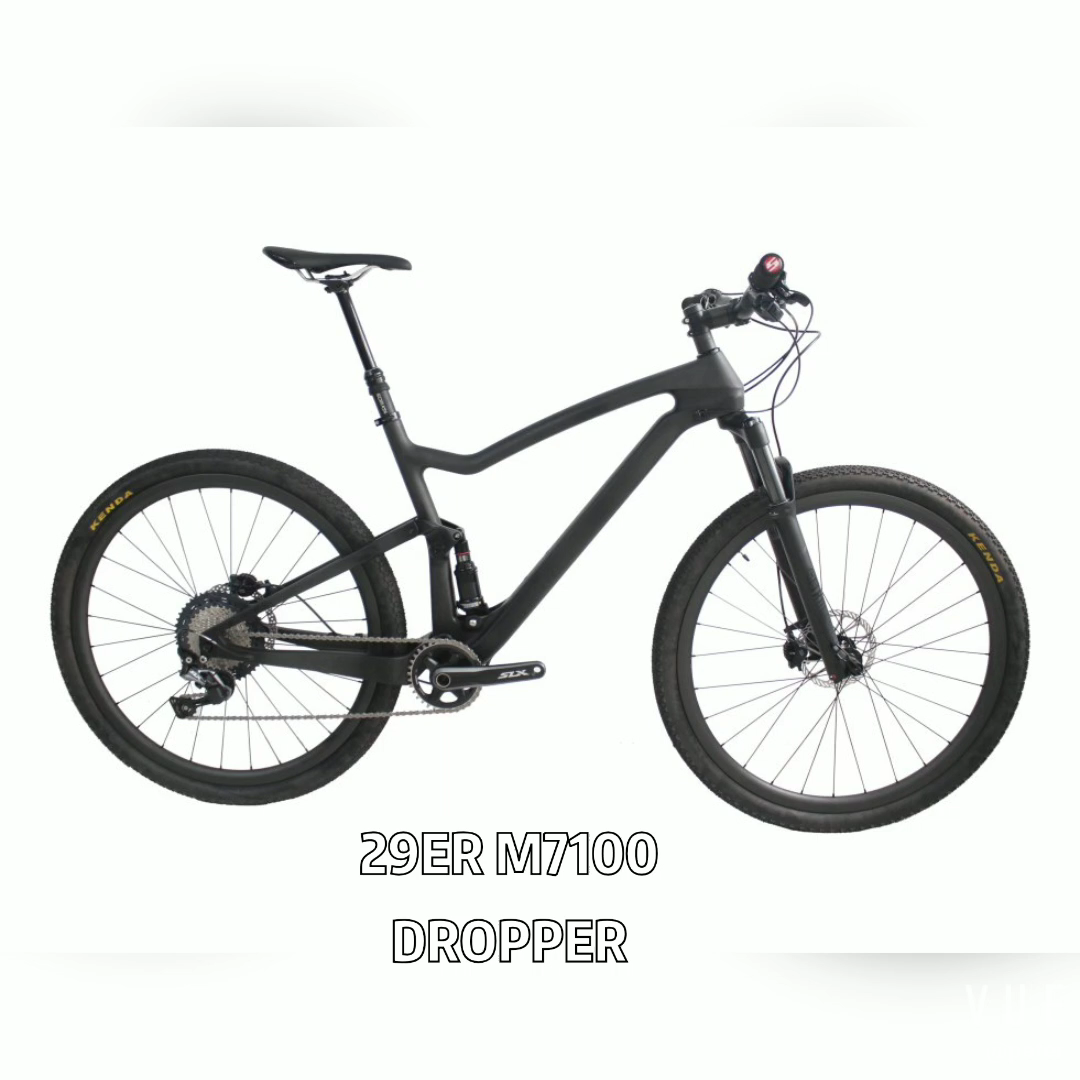 11.9KG השעיה BOOST 29er פחמן אופני RECON 100mm נסיעות מזלג, נימוק מכריע פחמן זוג גלגלים, SLX M7100 12S groupset