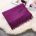 Blanket quality tassel solid winter wholesale womens 100 cashmere scarf in pakistan