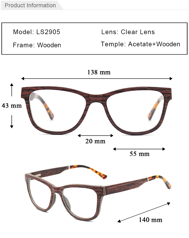 spectacles italy design latest top quality wooden optical frames eyeglasses factory wholesale glasses