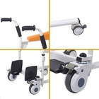 Unique ! Detachable wheelchair Patient transfer chair commode chair with wheel