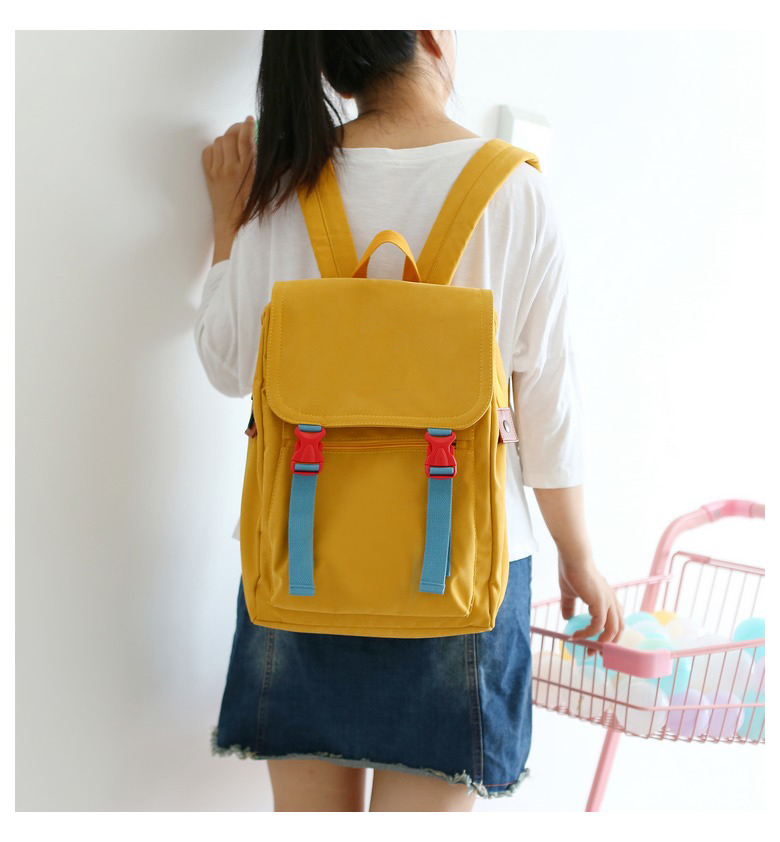 product-GF bags-mochilas 2020 Korean Canvas Women Gray BackpackKawaii Travel School Bag Pack for Tee