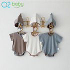 Short Stock Baby Romper Summer Infant Jumpsuit Short Sleeve Newborn Clothes Baby Romper With Hat 3587