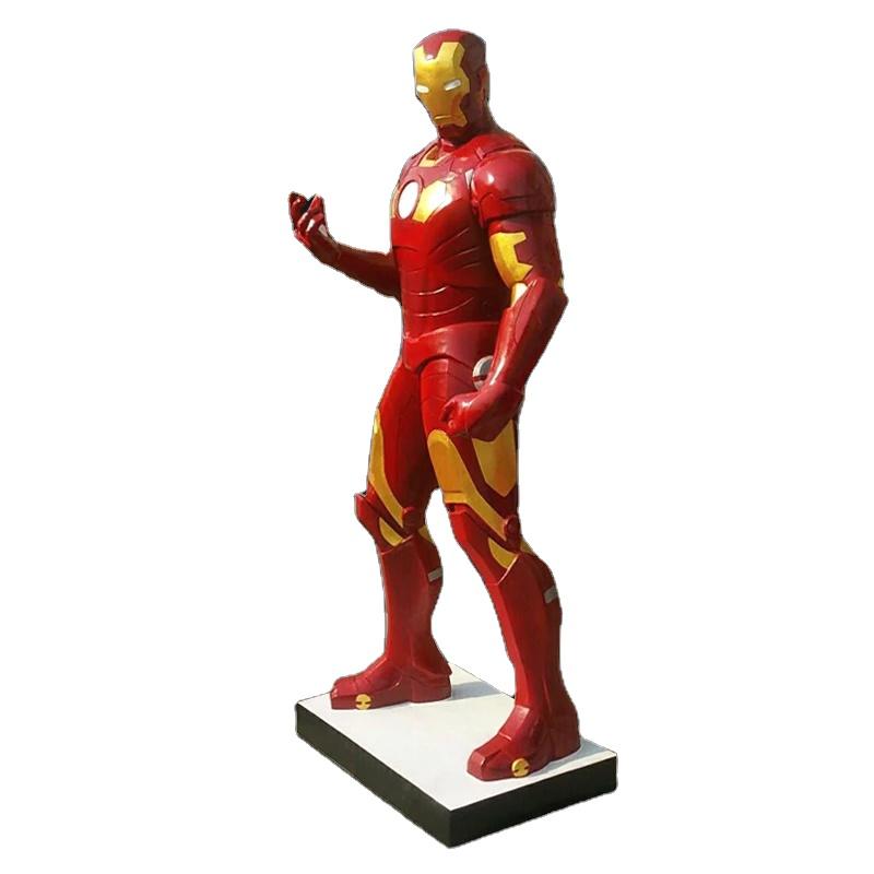wholesale Indoor fiberglass life size  resin movie superhero statue for sale