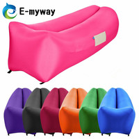 lazy lounger laybag inflatable hammock/air sofa sleep bag indoor