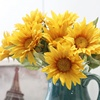 Sunflowers Plastic New Design Sunflower In Glass Dome Artificial Flower For Home Decor