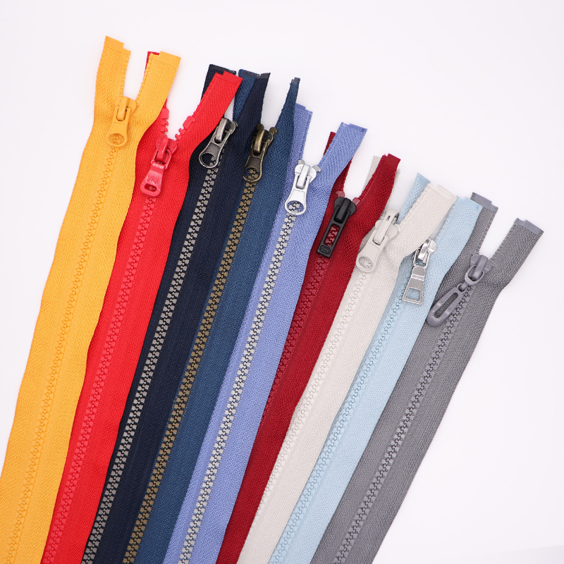 #3 #5 #8 #10 #20 Custom giant zipper colorful long chain open end plastic zipper vislon zip for garment jacket