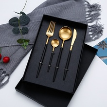 Hot Cutlery Knives Forks Spoons Wester Kitchen Dinnerware Stainless Steel Home Party Dinner Tableware Flatware Silverware Set