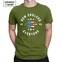 Мужские футболки с забавными потертостями New England VS Everyone Amazing Fans Patriots, футболки с вырезом лодочкой, хлопковая летняя футболка(Китай)