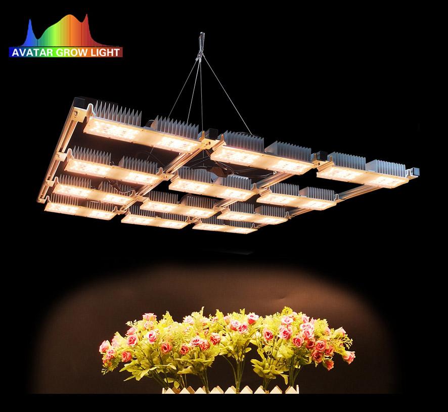 2018 Terbaru Desain 600W 800W 1000W Lumen Tinggi Hidroponik Tumbuh Sistem LED Tumbuh Cahaya