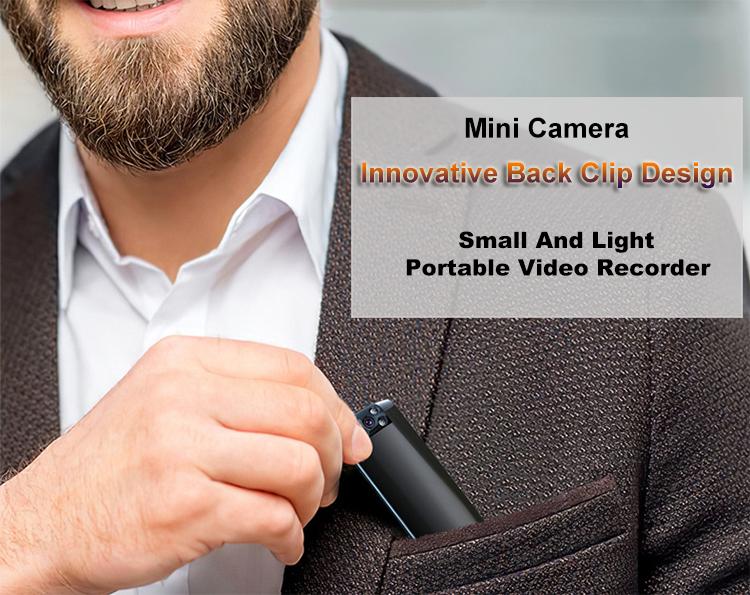 Yeni Mini vücut kamerası Video kaydedici kamera kaydedici kalem ile taşınabilir geri klip küçük güvenlik kamera ev ve ofis için