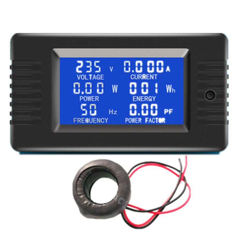 *peacefair PZEM-022 AC 220V 6in1 Volt Amp Watt Energy Frequency Electric Smart Kwh <strong>Meter</strong> Digital Power Factor <strong>Meter</strong>