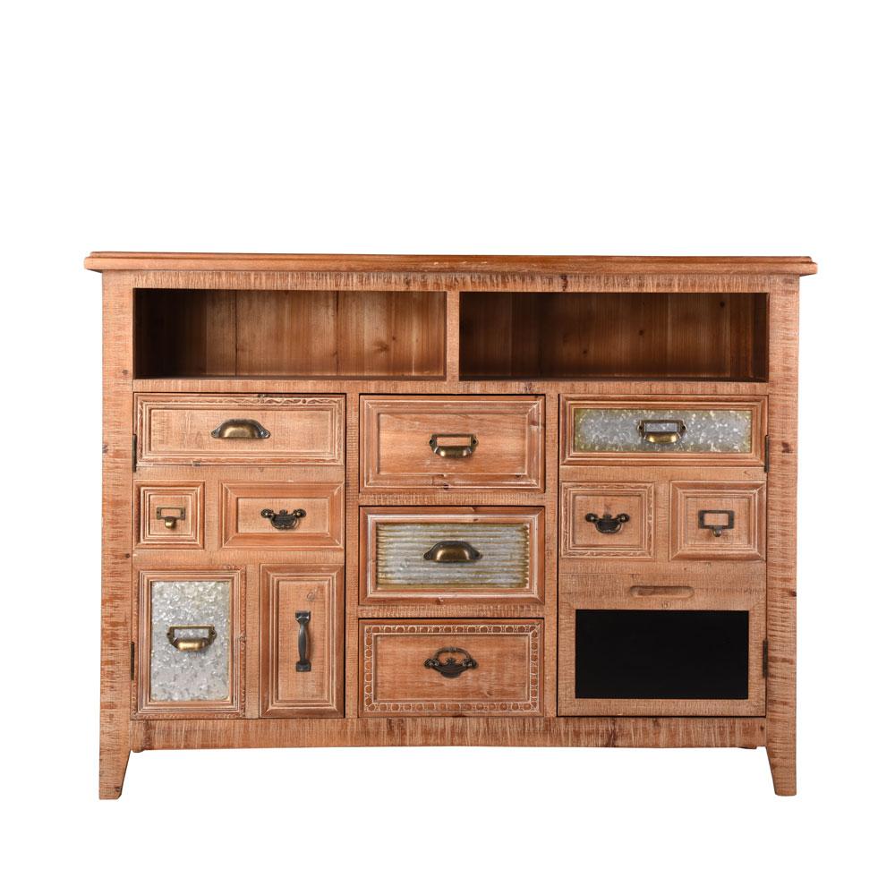 INNOVA HOME 2020 chinese industrial antique design wood furniture dining room wooden storage drawer kitchen cabinet